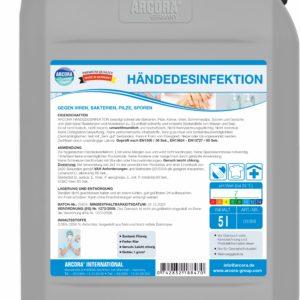 ARCORA Händedesinfektion mit Aktivchlor - Fischbach-Profishop - Über 60 Jahre Erfahrung in der Gebäudereinigung: Getestete Produkte von Profis für Profiteure - Ihr Partner zum Thema Reinigungsmittel